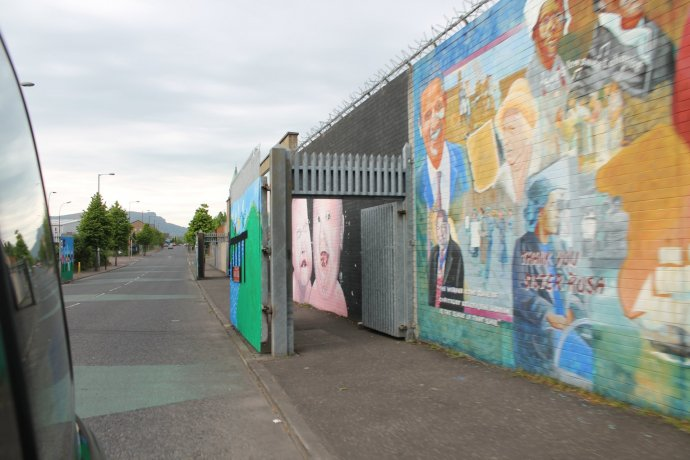 Murals and Set Of Security Gates