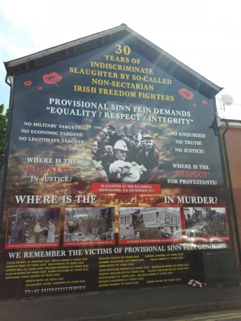 Unionist Mural - 30 Years of Balmoral Showrooms Bombing