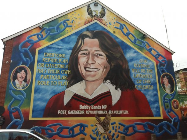 Bobby Sands MP Mural - Our Revenge Will Be The Laughter Of Our Children