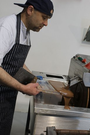 Expert Chocolatier In Action At The Chocolate Warehouse