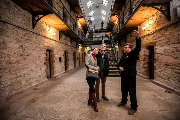 Tour in the Cell Blocks of a historic prison