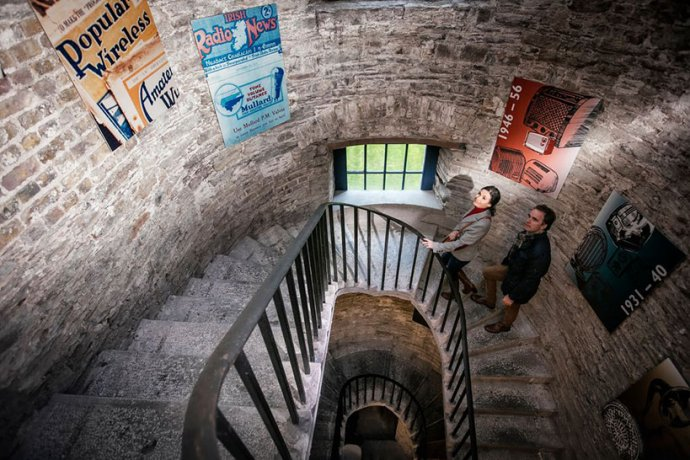 Irish Gaol Staircase Decorated With Posters