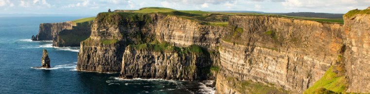 Cliffs of Moher over the Atlantic Ocean