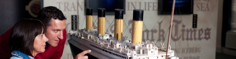 Guided tour in Cobh - viewing a miniature Titanic