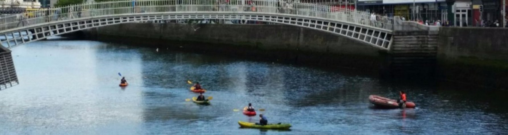 Dublin's famous river Liffey explored via kayak