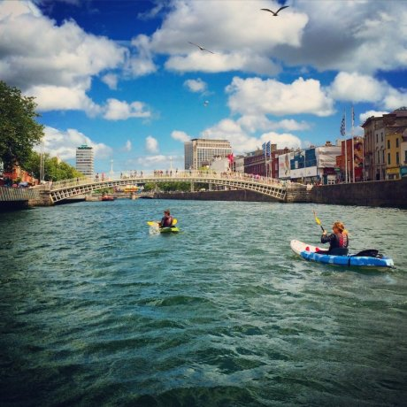 See the river Liffey with new eyes from a kayak
