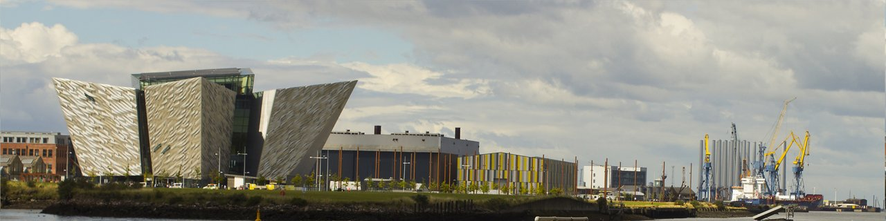 View of the modern Titanic Belfast Museum