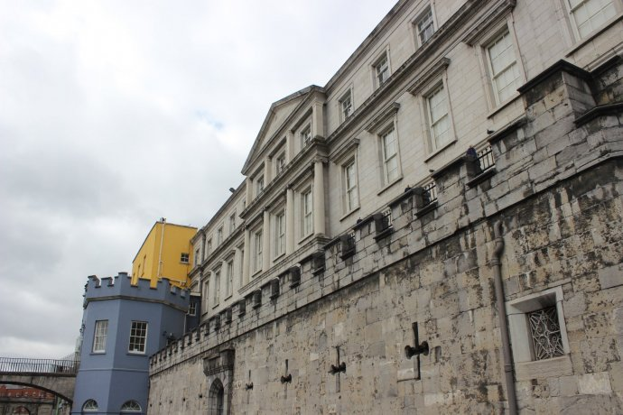 View of Dublin Castle from the park behind.