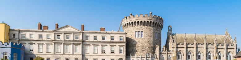 View of restored Dublin Castle
