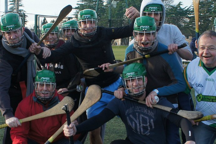 Sport Group Having Fun With Gaelic Games in Dublin