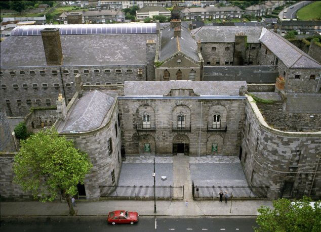 View from above of Gaol jail in Dublin
