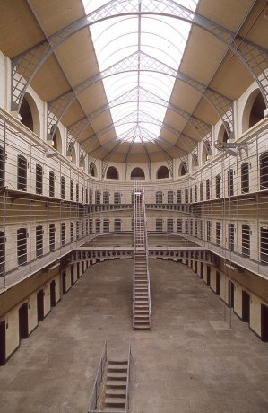 Inside of Kilmainham Gaol jail in Dublin