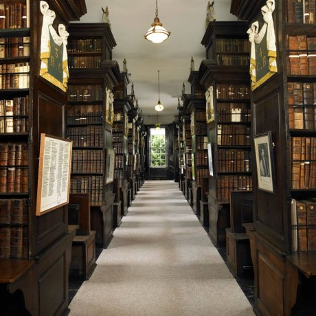 The Queen Anne building houses over 25000 rare books