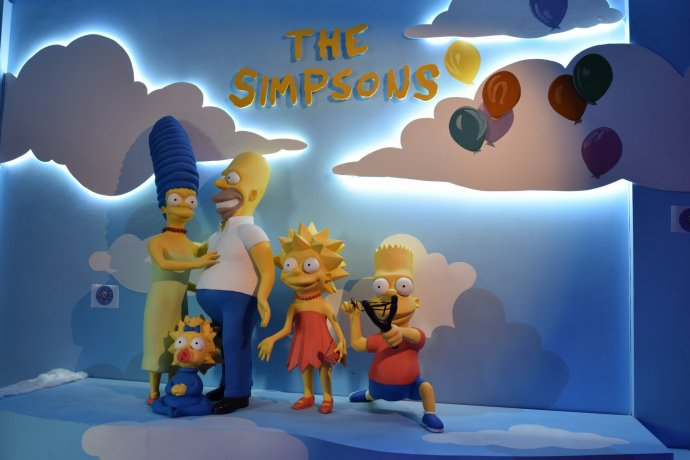 Popular cartoon characters such as the Simpsons are on display at the National Wax Museum