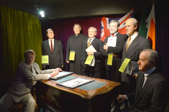 Learn about the Good Friday Agreement and other events from modern Irish history at the National Wax Museum
