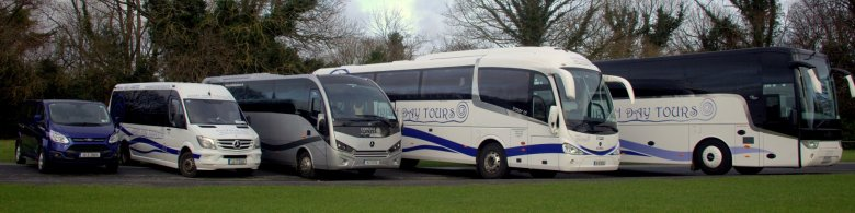 Variety of vehicles for group private airport transfers in Ireland