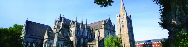 View of St. Patrick's Cathedral - Dublin's biggest church