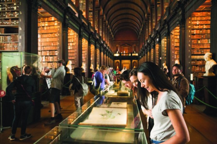 The Book of Kells is a famous and beatiful illustrated manuscript from the 9th century