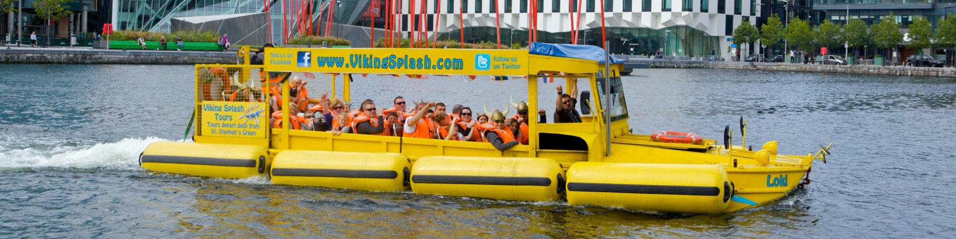 Group tour in the centre of Dublin - Viking Splash water tour