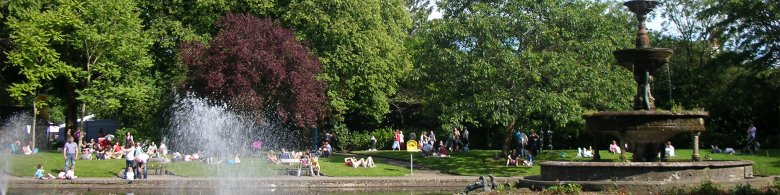 People enjoying a sunny day at the park