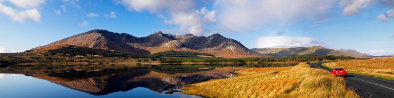 Stunning view of Connemara National Park - Galway Ireland