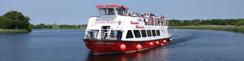 Corrib Princess Ship sailing in Galway City