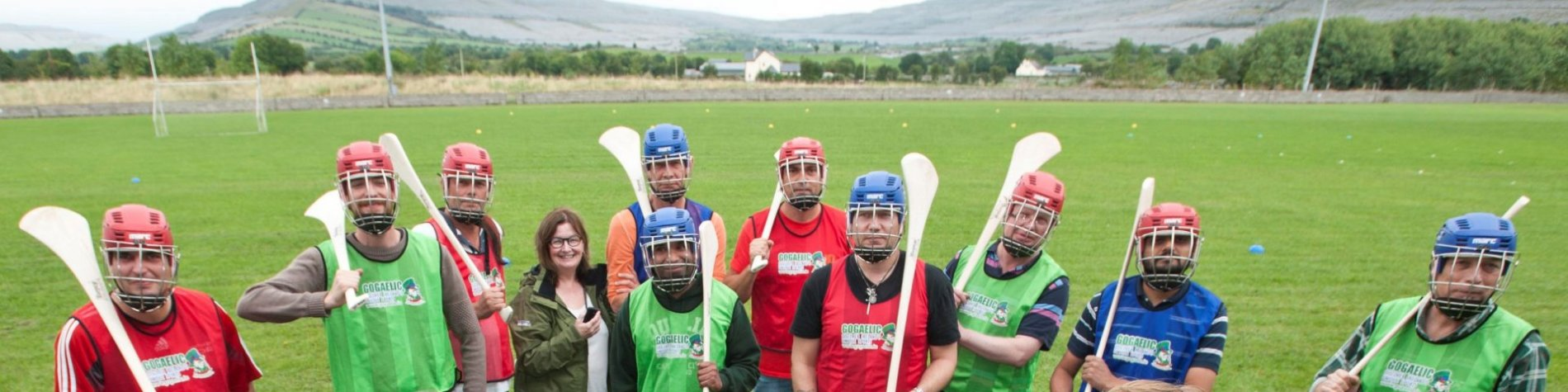 Group playing Irish sports - Go Gaelic Galway