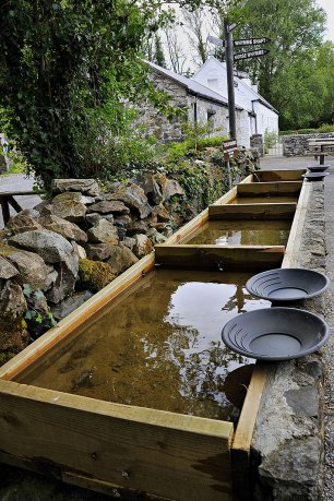 Gold Panning Station at Glengowla Farm and Mines
