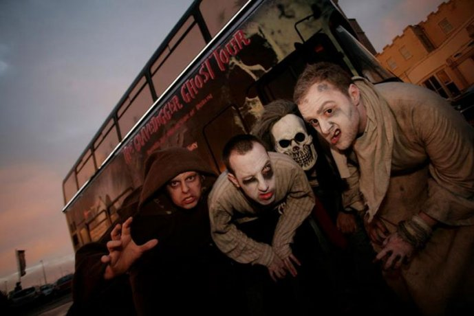 Macabre Creatures on the Gravedigger Ghostbus Tour in Dublin
