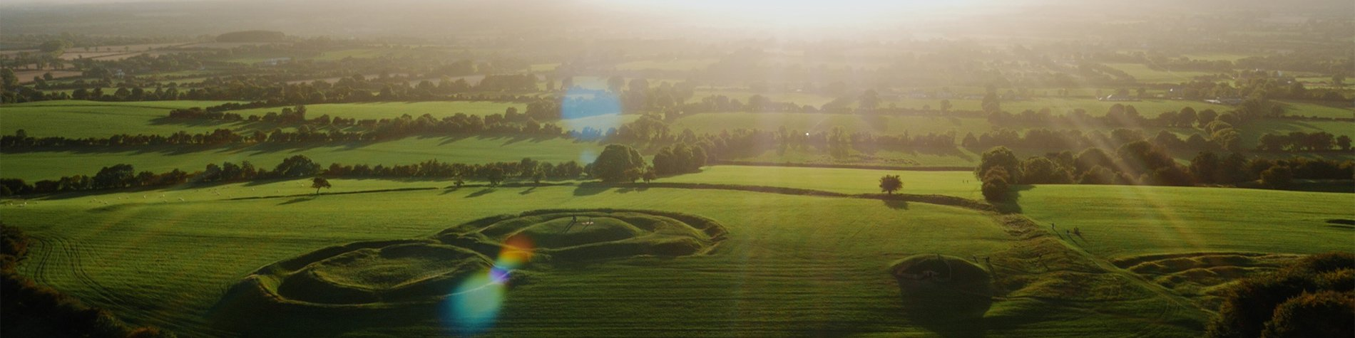 Celtic Atmosphere During Sunrise at the Hill of Tara