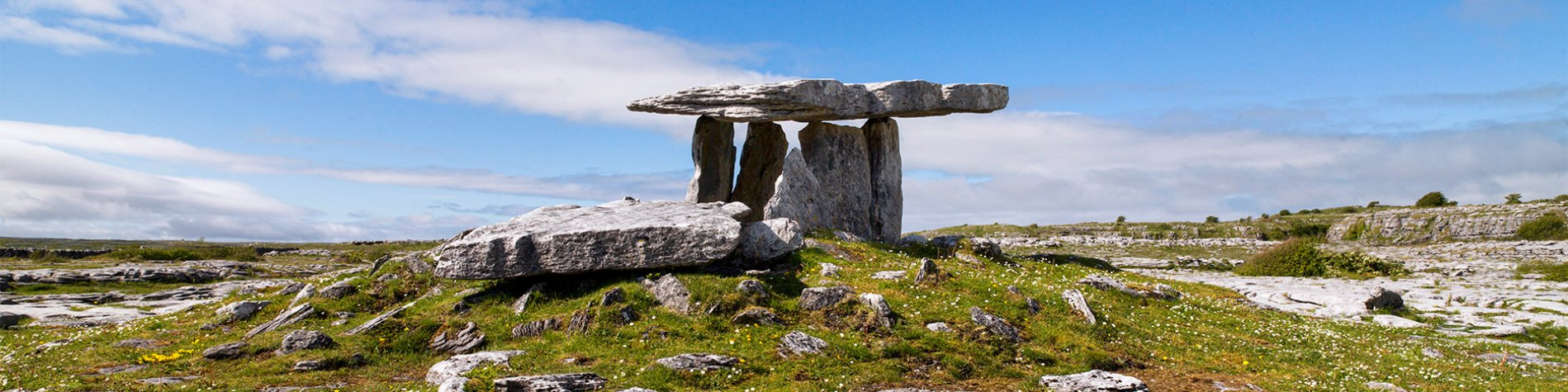 Poulnabrone Dolmen Overlooking the Burren