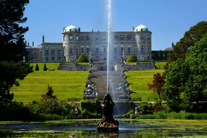 Powerscourt House view from the distance