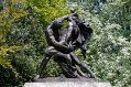 Two Men Fighting with daggers Statue