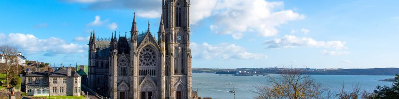 The Cathedral Church of St Colman Overlooking Cobh Harbour