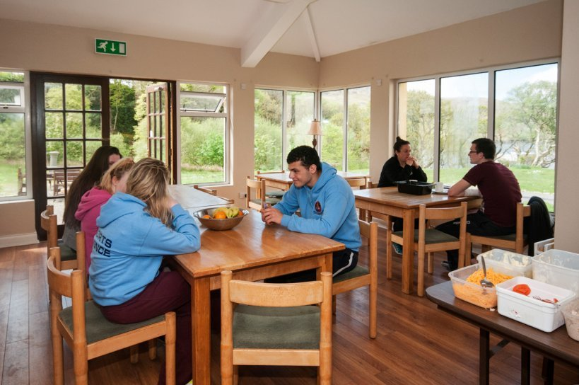 The Connemara Hostel Sleepzone breakfast area