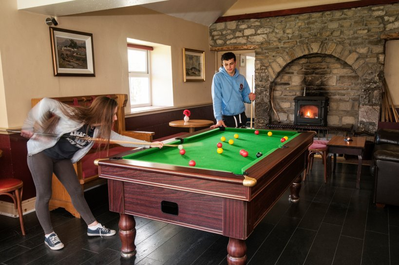 The Connemara Hostel Sleepzone games area