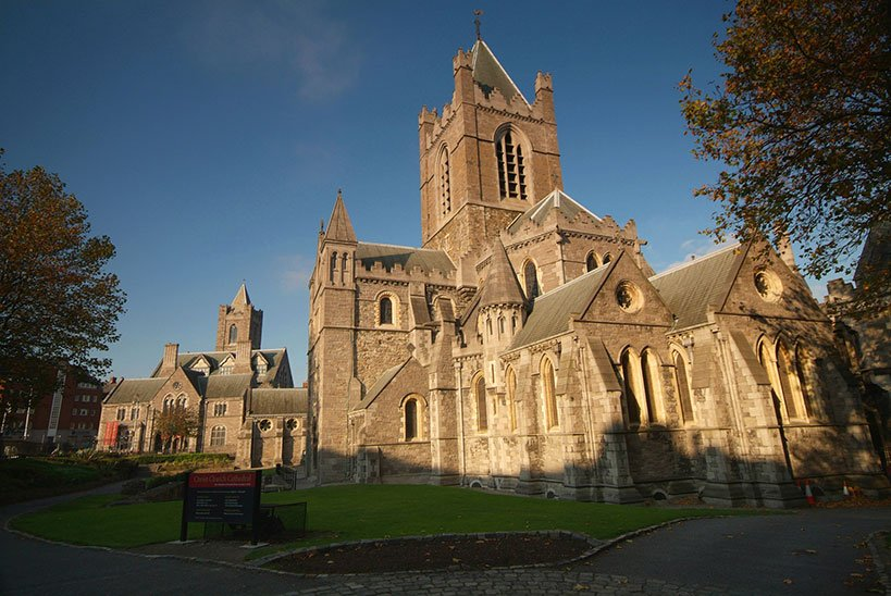 Christ Church Cathedral brightened by the sunlight