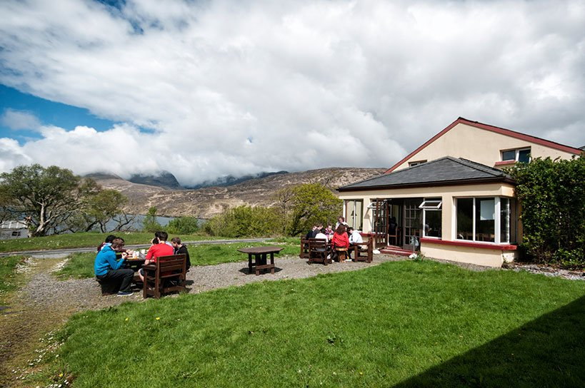 Outdoors lunch at a Rural Hostel in Connemara