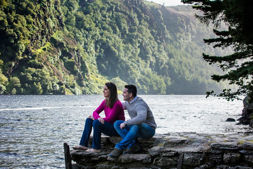 A couple enjoying the gorgeous views in Glendalough