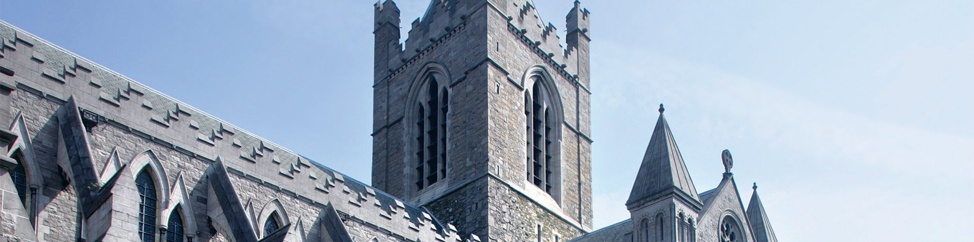 Christ Church Cathedral  in Dublin Close up Building