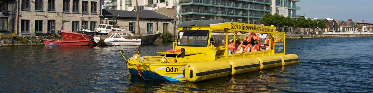 Warrior Viking Splash Yellow Boat Odin on River Liffey