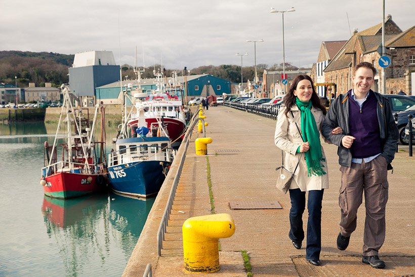 Couple in the Fishing Port on a Tour of Ireland