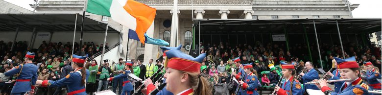 St Patricks Day Ireland Flag and Parade