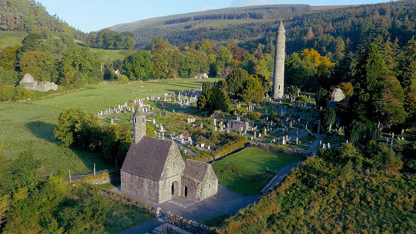 Glendalough Monastic Site in Co. Wicklow
