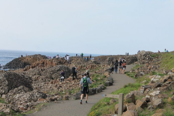 People on Approach to Giant's Causeway