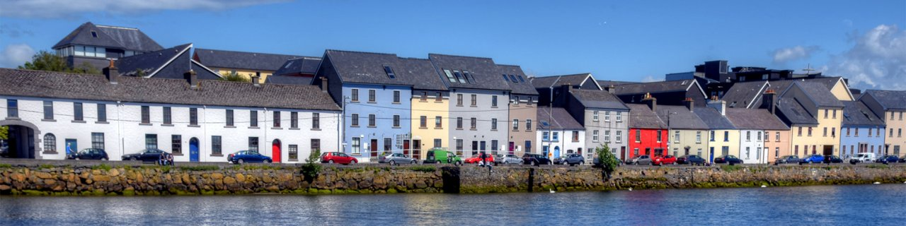 Galway city's houses by River Corrib