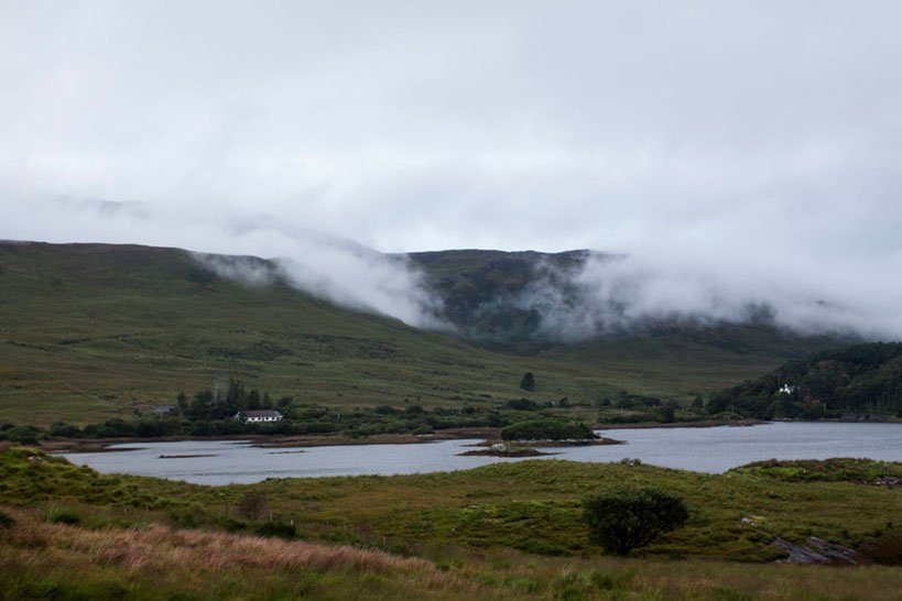 Mist over at Killary Fjord