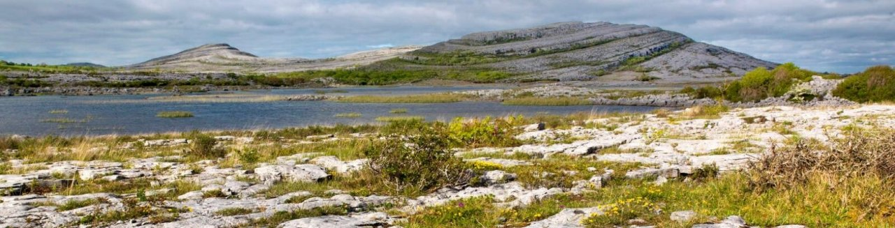 Rocky landscape in the Burren Unesco geopark