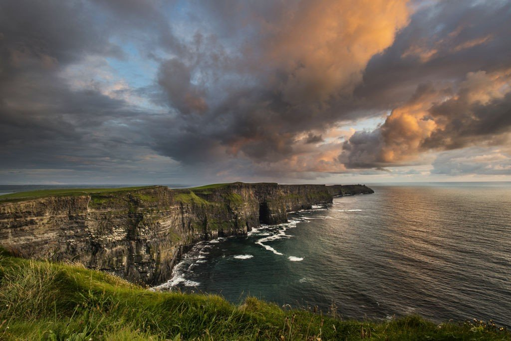 Cliffs of Moher - Atlantic Coast of Ireland - Clouds