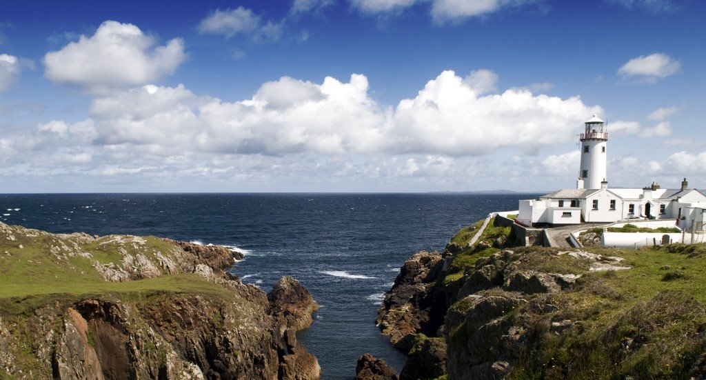 Lighthouse in Ireland Scenic View of the Coast - Atlantic
